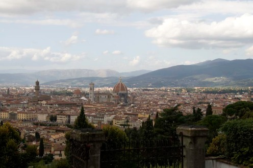 View of Florence from across the river