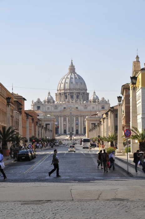 St. Peter's Basilica in the distance