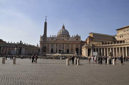 Piazza in front of the basilica