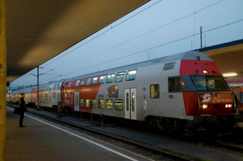 Austrian Regional Train. This is one I returned on from Melk