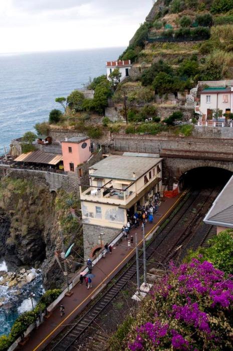 Riomaggiore train station from above
