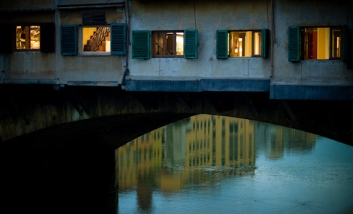 Florence, Italy Ponte Vecchio at Night