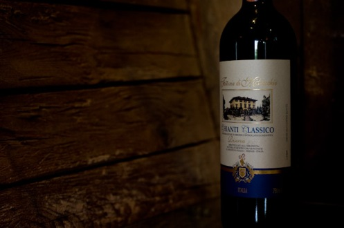 Florence, Italy - Bottle of Chianti Classico