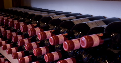 lorence, Italy - Bottles of Chianti Classico