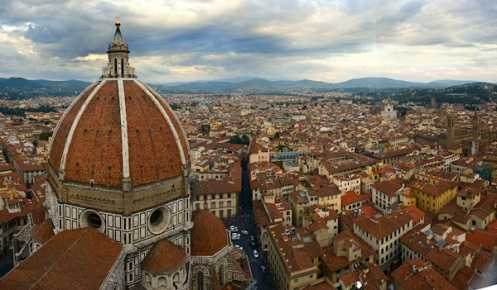 Florence, Italy View of Duomo